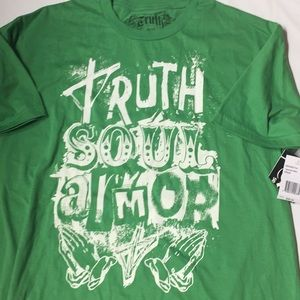 NWT men's truth green shirt